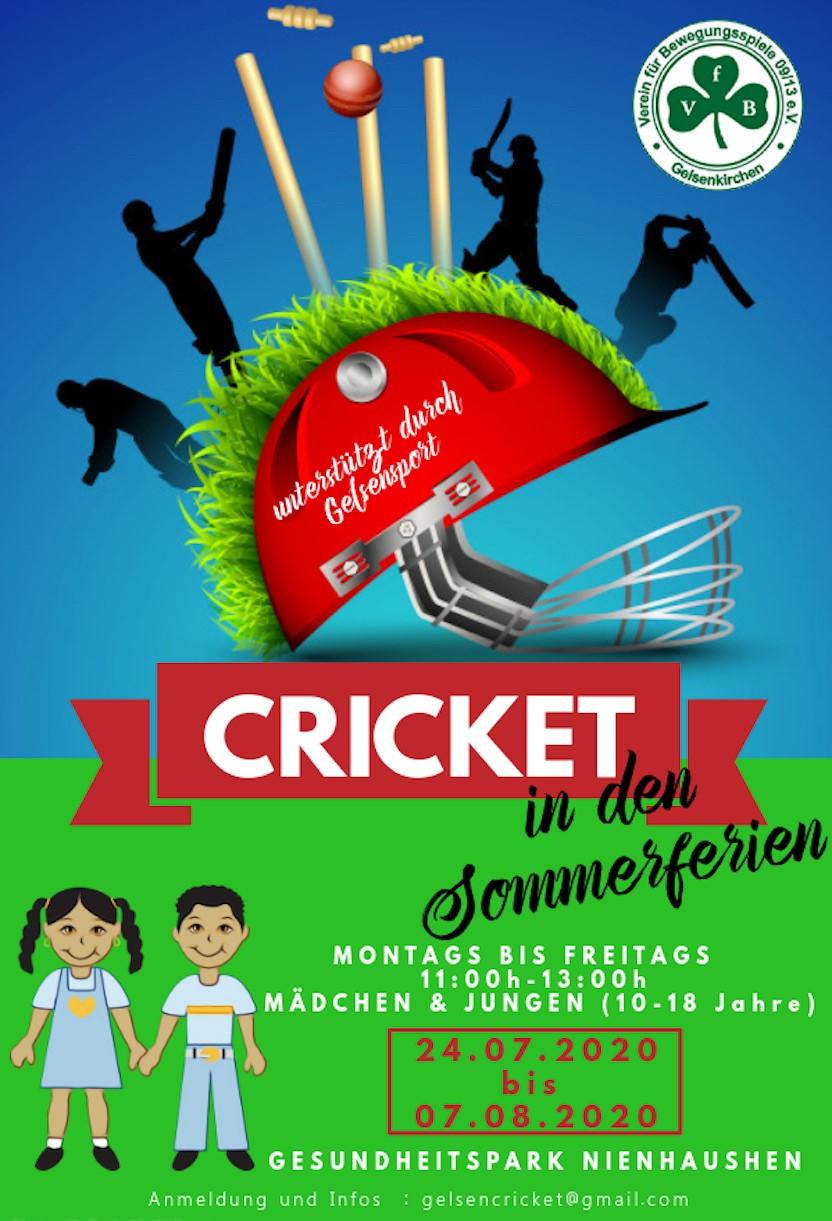 Cricket in den Sommerferien